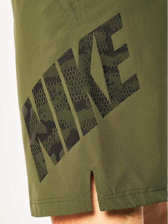 Nike Nike Szorty sportowe Flex Camo CJ1972 Zielony Standard Fit