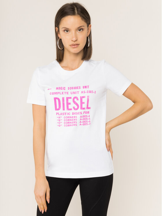 Diesel Diesel Marškinėliai T-Sily-Zf 00SYVT 0091A Balta Regular Fit