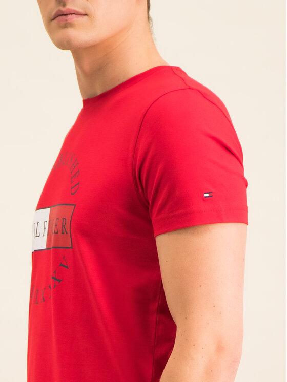 Tommy Hilfiger Tommy Hilfiger Marškinėliai Corp Circular Tee MW0MW12532 Raudona Regular Fit