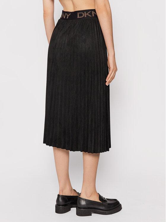 DKNY DKNY Plesirana suknja P1GNXCVM Crna Regular Fit
