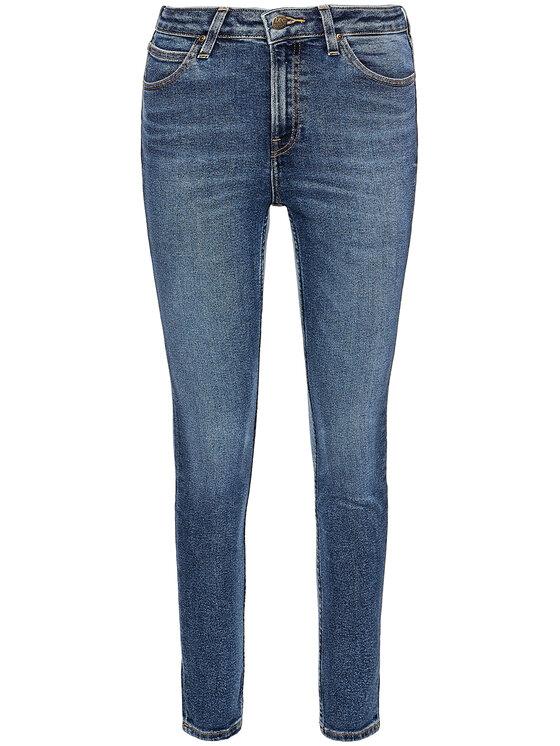 Lee Lee Super Skinny Fit džíny Ivy L32EDTQQ Modrá Super Skinny Fit