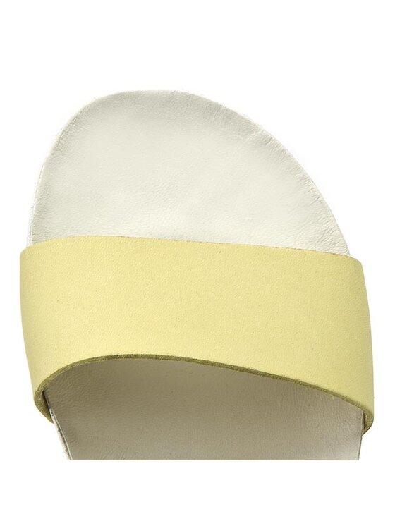 Clarks Clarks Sandały Dusty Sport 261142324 Żółty