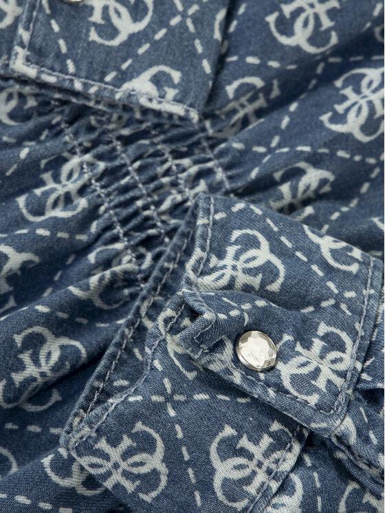 Guess Guess Sukienka codzienna J01K02 D3XO0 Granatowy Regular Fit