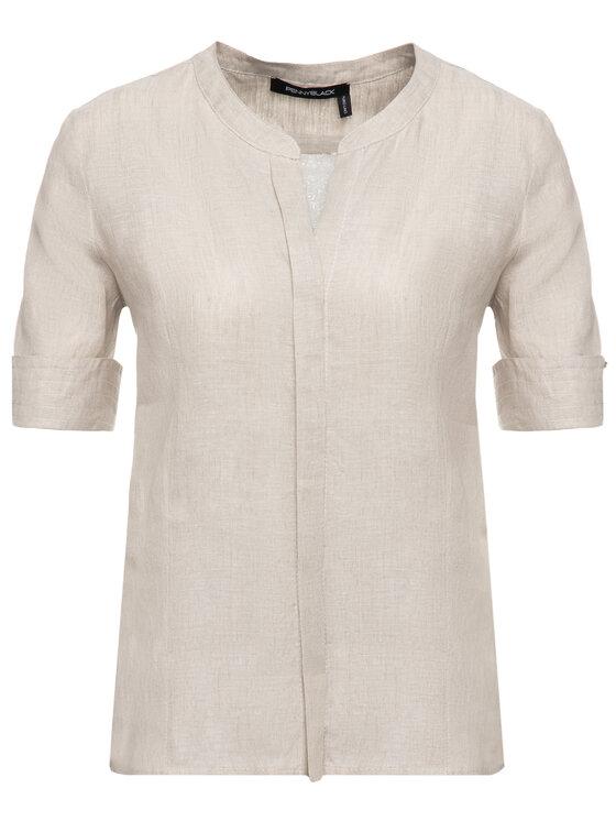 Pennyblack Pennyblack Koszula 21110319 Beżowy Regular Fit