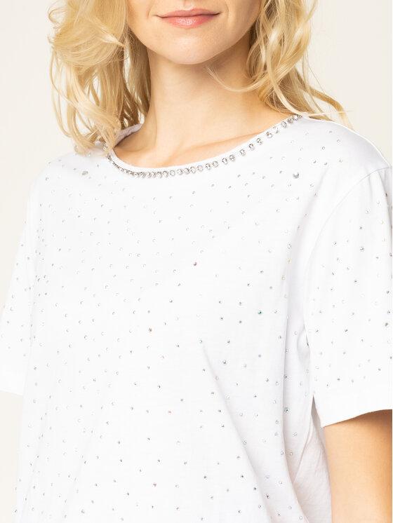Guess Guess Marškinėliai Edwina W01P92 K7DN0 Balta Slim Fit