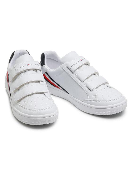 Tommy Hilfiger Tommy Hilfiger Sneakersy Low Cut Velcro Sneaker T3B4-31084-0621 S Biały