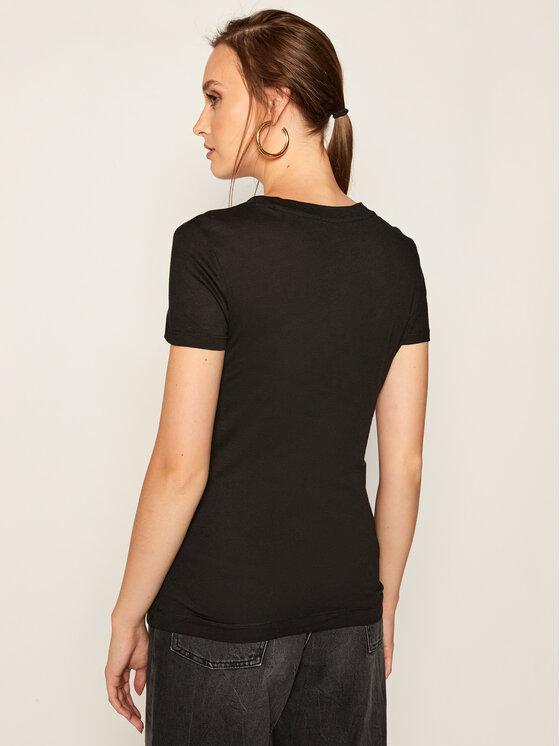 Guess Guess T-Shirt W84I67 K7WA0 Černá Slim Fit