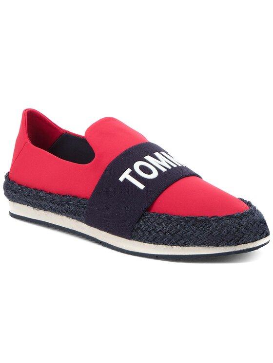 Tommy Jeans Tommy Jeans Espadrilky Hybrid Slip On EN0EN00096 Červená
