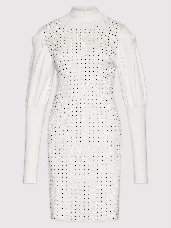 Liu Jo Liu Jo Džemper haljina CF1357 MA49I Bijela Regular Fit
