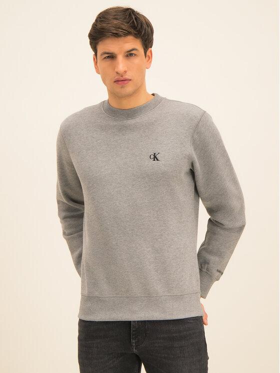 Calvin Klein Jeans Calvin Klein Jeans Sweatshirt Embroidered Logo J30J314536 Gris Regular Fit