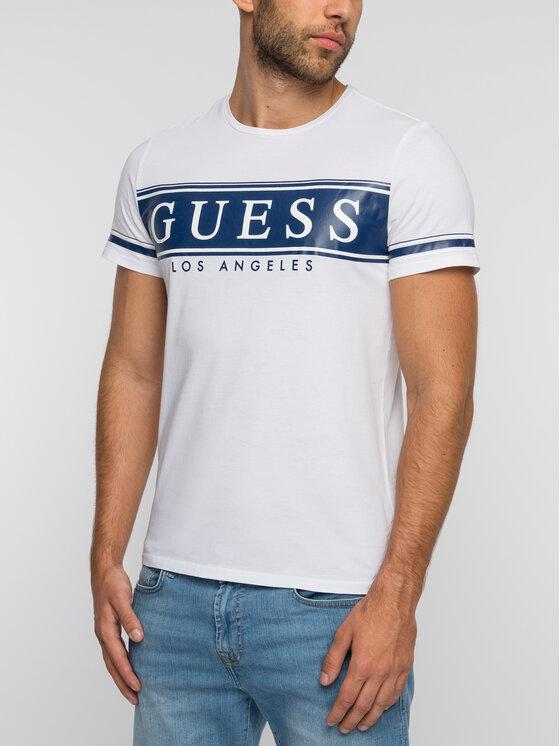 Guess Guess Marškinėliai M93I49 K8HM0 Balta Slim Fit