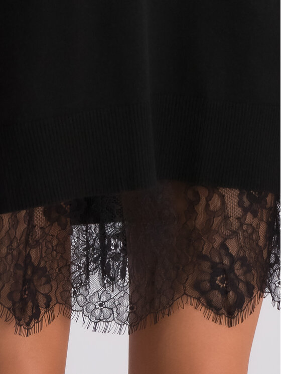 TwinSet TwinSet Φόρεμα καθημερινό 192TP3331 Μαύρο Regular Fit