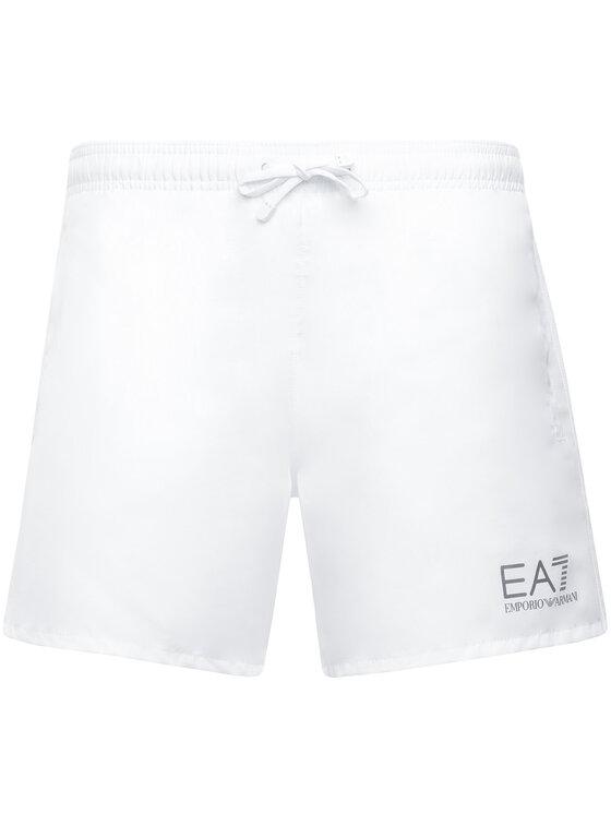 EA7 Emporio Armani EA7 Emporio Armani Σορτς κολύμβησης 902000 CC721 00010 Λευκό Regular Fit