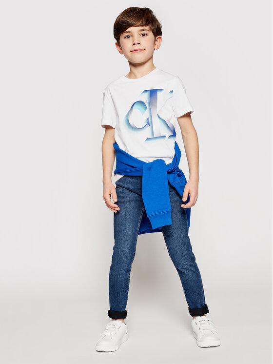 Calvin Klein Jeans Calvin Klein Jeans T-Shirt Pixelated Monogram IB0IB00850 Biały Regular Fit