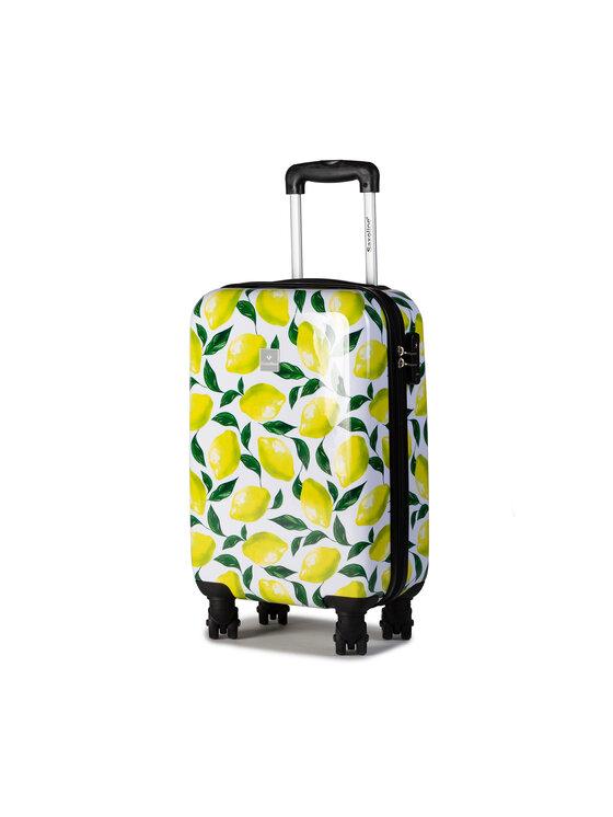 Saxoline Mažas Kietas Lagaminas Trolley S Lemon 1438H0.49.10 Balta