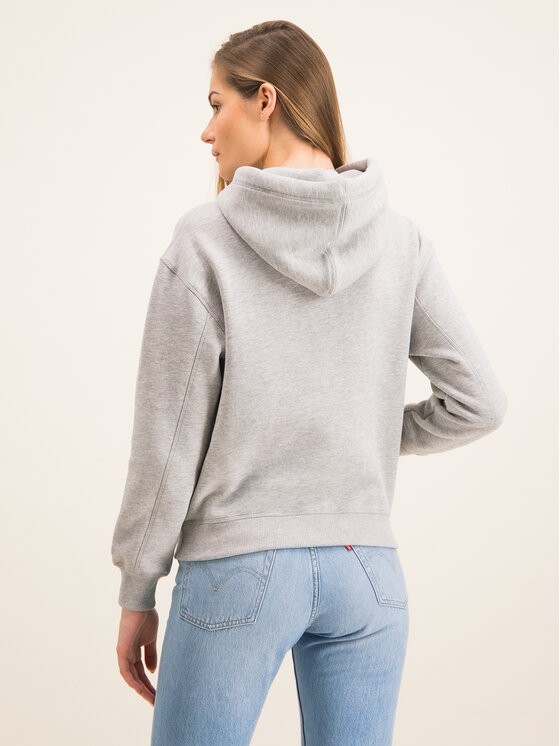 Calvin Klein Jeans Calvin Klein Jeans Μπλούζα Embroidered Logo J20J213178 Γκρι Regular Fit