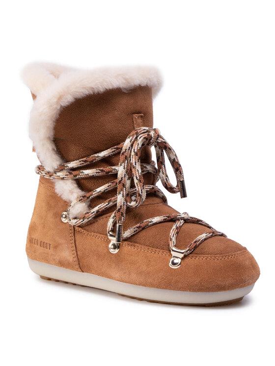 Moon Boot Sniego batai Dk Side High Shearling 24300100001 Ruda