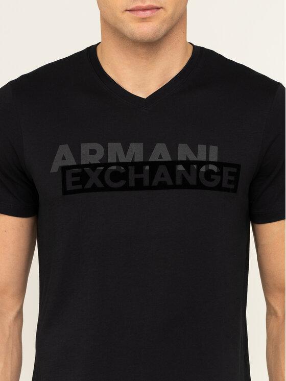 Armani Exchange Armani Exchange T-Shirt 3HZTBF ZJA5Z 1200 Czarny Slim Fit