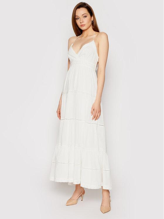 TwinSet Sukienka letnia 211LM2BSS Biały Regular Fit