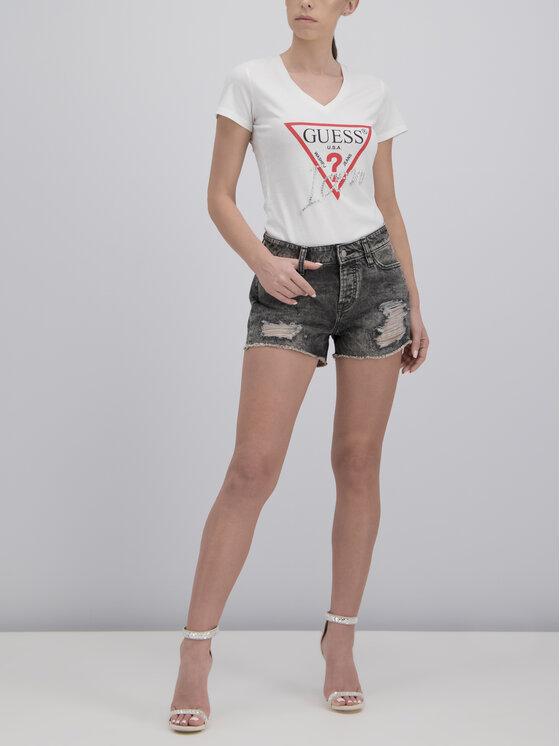Guess Guess T-Shirt W92I59 K75R0 Biały Slim Fit