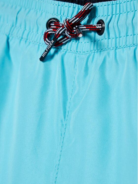 Tommy Hilfiger Tommy Hilfiger Szorty kąpielowe Medium Drawstring UB0UB00360 Niebieski Regular Fit