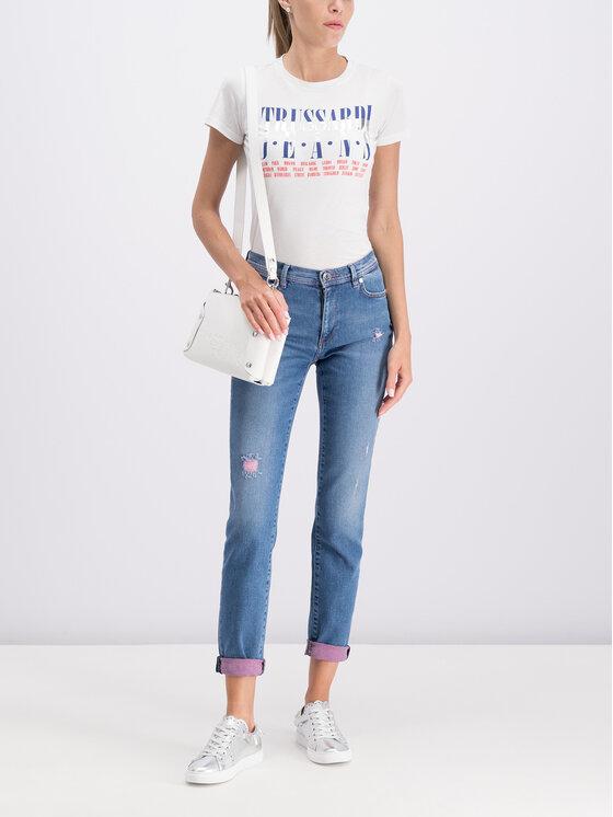 Trussardi Jeans Trussardi Jeans Marškinėliai 56T00206 Balta Regular Fit