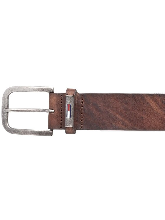 Tommy Jeans Tommy Jeans Ζώνη Ανδρική Thd Metal Loop Flag Belt 4.0 CM AM0AM02978 100 Καφέ