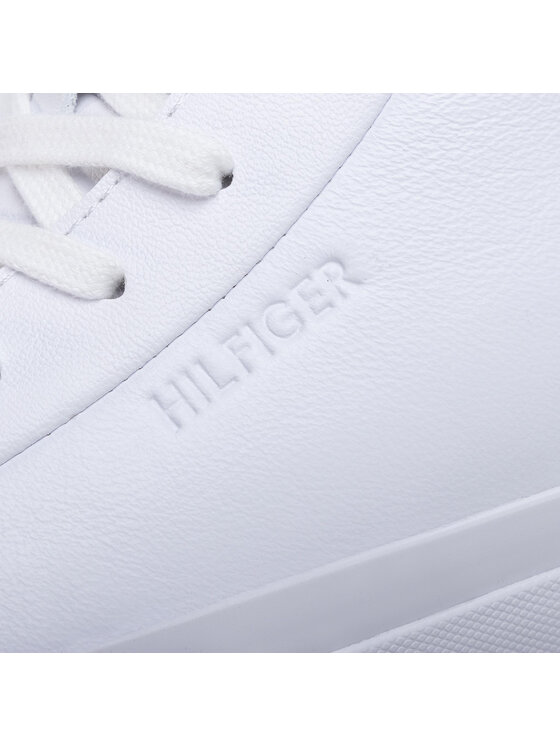 Tommy Hilfiger Tommy Hilfiger Sneakersy Corporate High Leather Sneaker FM0FM02674 Biały