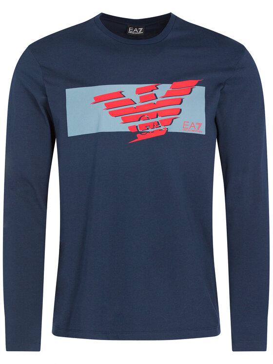 EA7 Emporio Armani EA7 Emporio Armani Marškinėliai ilgomis rankovėmis 3HPT50 PJT3Z 1554 Tamsiai mėlyna Regular Fit
