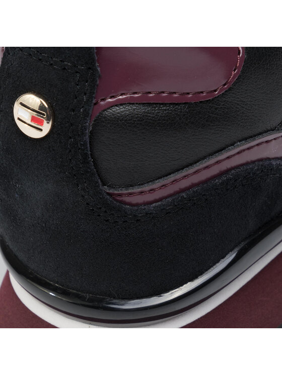Tommy Hilfiger Tommy Hilfiger Сникърси Leather Wedge Sneaker FW0FW04420 Бордо
