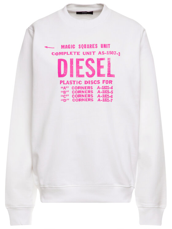 Diesel Diesel Суитшърт F-Ang 00S9HX 0BAWT Бял Regular Fit