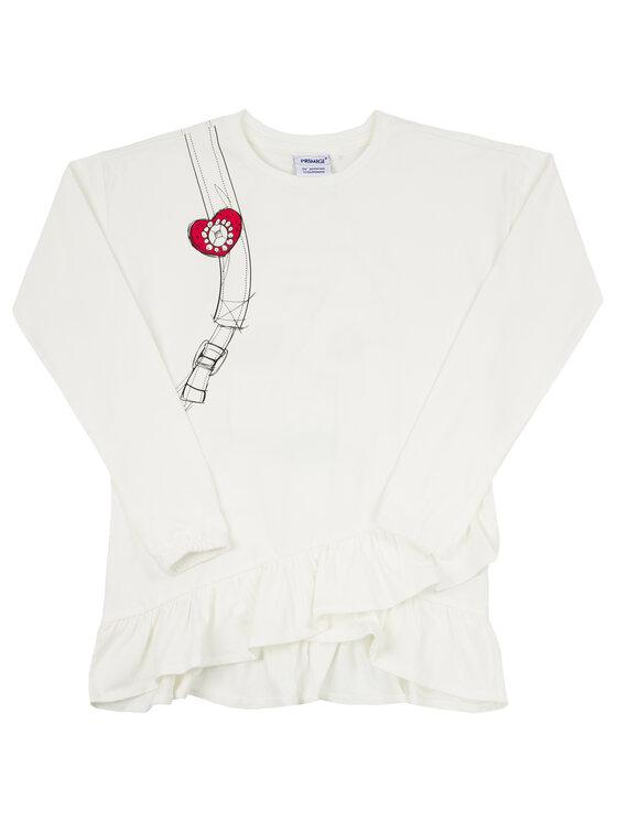 Primigi Primigi Komplektas: palaidinė ir tamprės Fashion Academy 44193501 Balta Regular Fit