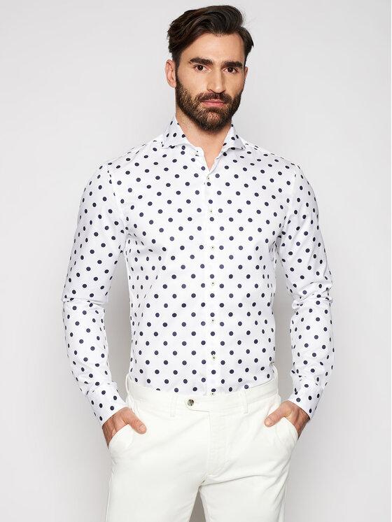 Stenströms Marškiniai 775221 8174 Balta Slim Fit