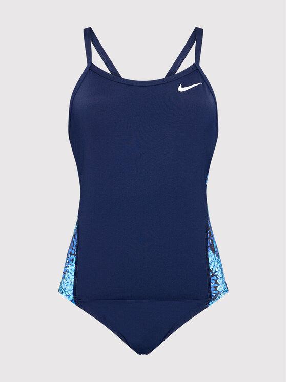 Nike Nike Strój kąpielowy Hydrastrong Multiple Print Racerback NESSB015 Granatowy