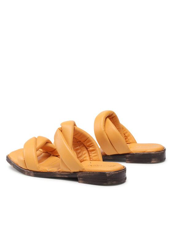Carinii Carinii Klapki B6135 Pomarańczowy