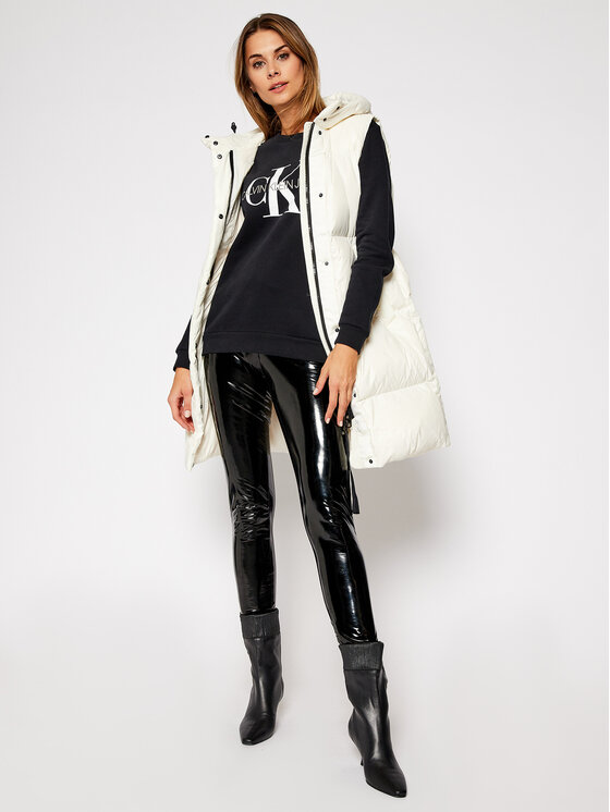 Calvin Klein Jeans Calvin Klein Jeans Mikina Core Monogram Logo J20J207877 Černá Relaxed Fit