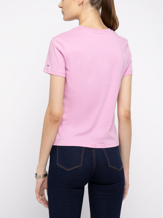 Tommy Jeans Tommy Jeans T-Shirt DW0DW07029 Ροζ Regular Fit