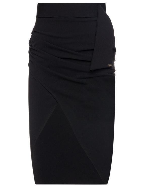 Elisabetta Franchi Elisabetta Franchi Пола тип молив GO-280-96E2-V159 Черен Regular Fit