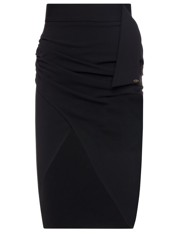 Elisabetta Franchi Elisabetta Franchi Spódnica ołówkowa GO-280-96E2-V159 Czarny Regular Fit
