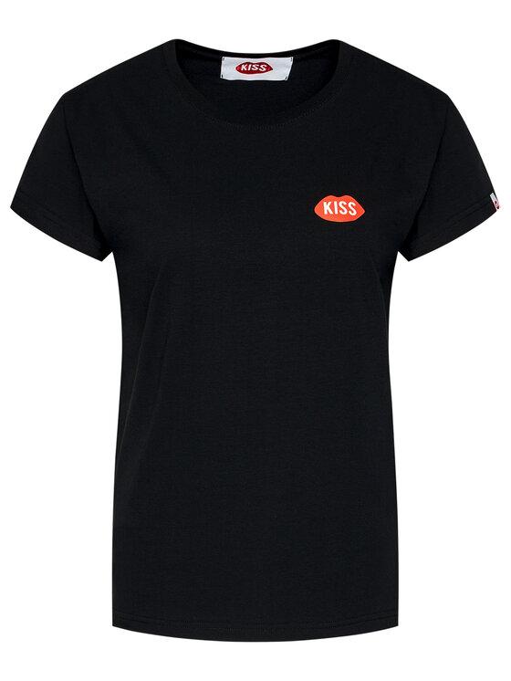 PLNY LALA PLNY LALA T-Shirt Petite Kiss PL-KO-FF-00002 Czarny French Fit
