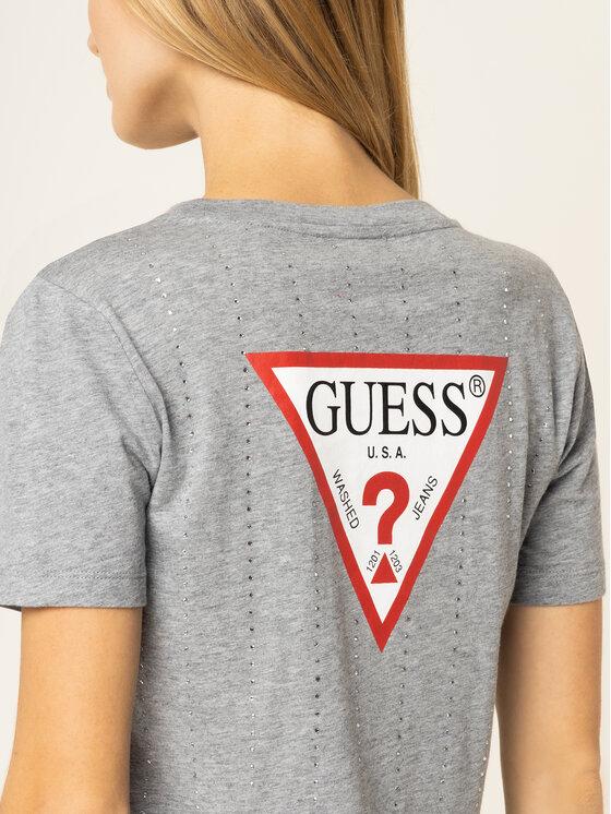 Guess Guess Тишърт Krystal Tee W01I70 K46D0 Сив Regular Fit