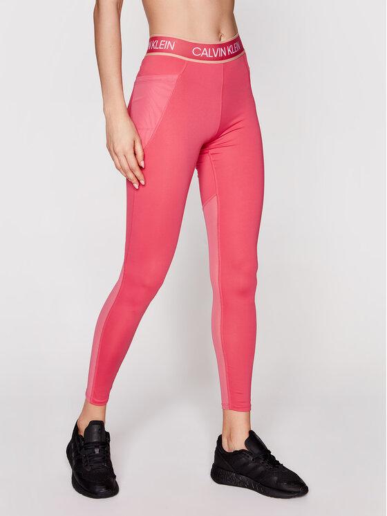 Calvin Klein Performance Leginsai Full Lenght Tight 00GWS1L650 Rožinė Slim Fit