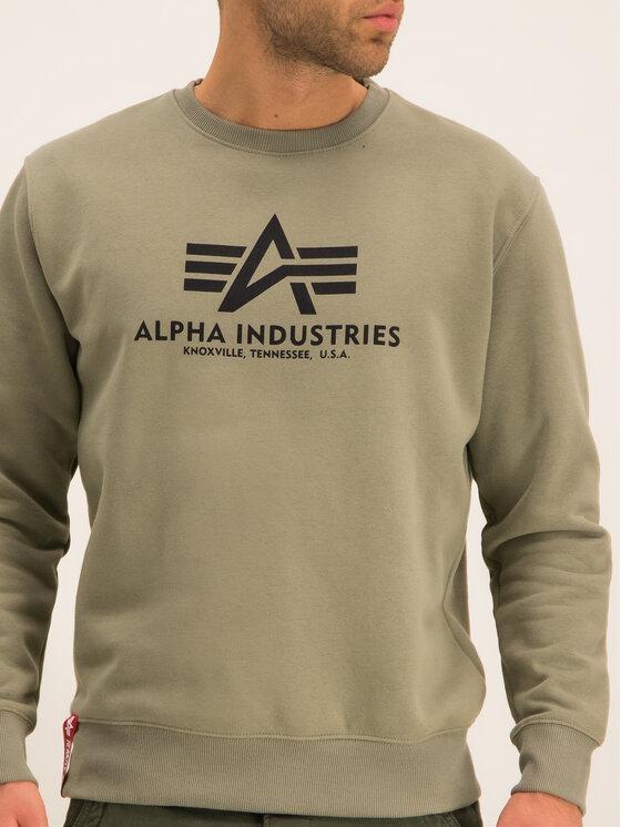 Alpha Industries Alpha Industries Μπλούζα Basic 178302 Πράσινο Regular Fit