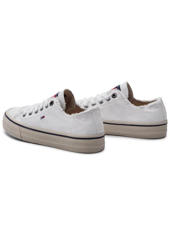 Tommy Jeans Tommy Jeans Teniszcipő Lowcut Tommy Jeans Sneaker EM0EM00298 Fehér