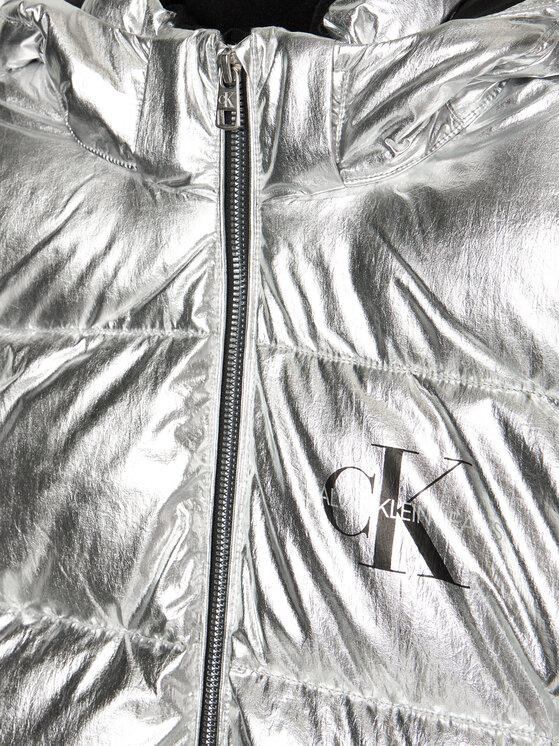 Calvin Klein Jeans Calvin Klein Jeans Kurtka puchowa IG0IG00634 Srebrny Regular Fit
