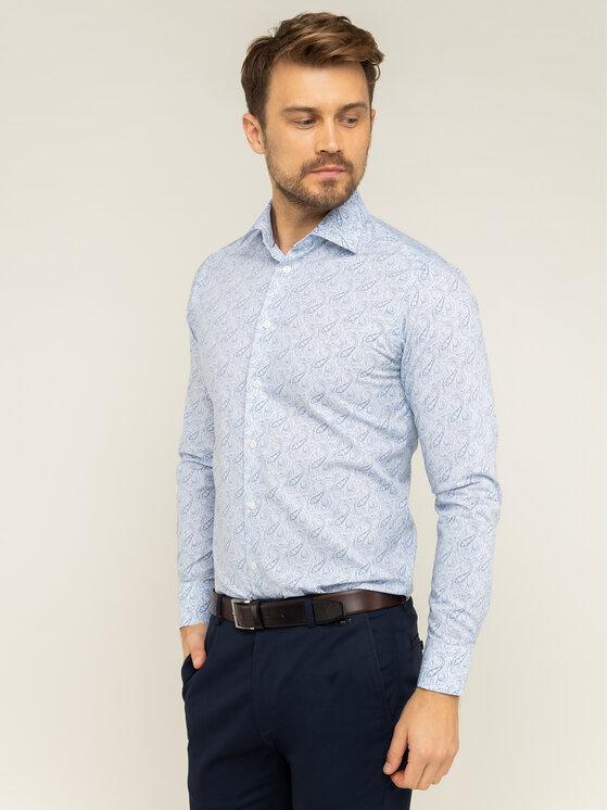 Eton Marškiniai 100000332 Mėlyna Slim Fit