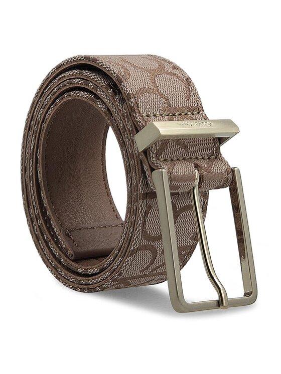 Calvin Klein Calvin Klein Dámský pásek Nin4 Logo Belt K60K602235 75 Hnědá