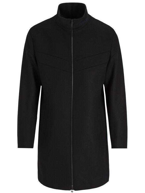Hugo Hugo Vlnený kabát Meskar1941 50411522 Čierna Slim Fit