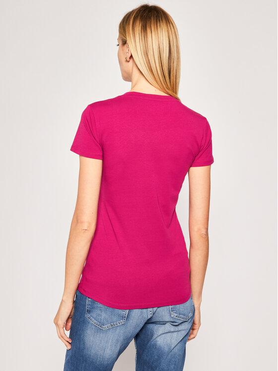 Guess Guess T-Shirt Icon W94I65 K7DE0 Różowy Regular Fit