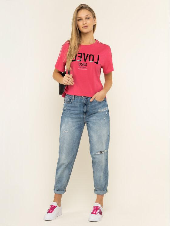Guess Guess Marškinėliai W01I95 JA900 Rožinė Relaxed Fit